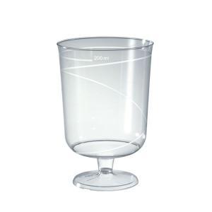 【在庫限り】 プラスチック製 ワイングラス 高さ10x幅6.8cm  200cc(220cc) 10個入|duni