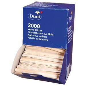 木製マドラー 11.4cm ディスペンサーボックス付き 2000本入り|duni