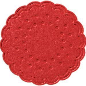 ティッシュコースター  (レッド)  8PLY  250枚入 直径7.5cm|duni