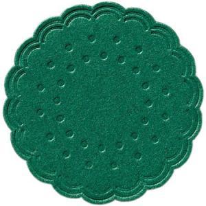 在庫限り ティッシュコースター ダークグリーン 8プライ 250枚入 直径7.5cm 使い捨て|duni