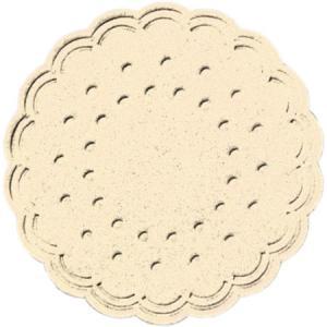 ティッシュコースター  (クリーム)  8PLY 250枚入 直径7.5cm|duni