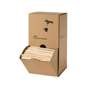 ディスペンサーボックス付き 木製 マドラー 11cm 2000本入り 使い捨て|duni