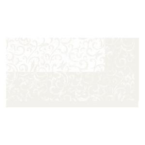 【在庫限り】 ペーパーテーブルクロス デザイン(サララホワイト) 84x84cm 1枚入|duni