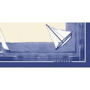 【在庫限り】 ペーパーテーブルクロス デザイン(セイリング) 84x84cm 1枚入|duni