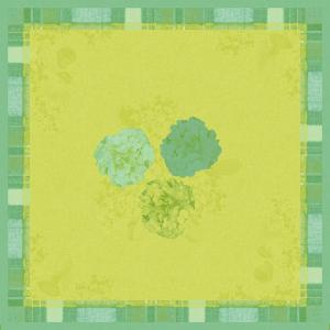 【在庫限り】 ペーパーテーブルクロス デザイン(エンドレスサマーグリーン) 84x84cm 1枚入|duni