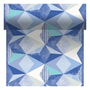 【在庫限り】 テタテット デザイン(ジオメトリカブルー) 40cm×24M 1本入|duni