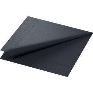 【在庫限り】 カラーナプキン 3PLY 4面折 ブラック 40×40cm 125枚入|duni