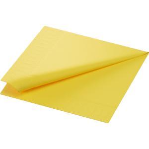 【在庫限り】 カラーナプキン 3PLY 4面折 イエロー 40×40cm 125枚入|duni