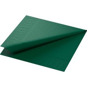 【在庫限り】 カラーナプキン 3PLY 4面折 ダークグリーン 40×40cm 125枚入|duni