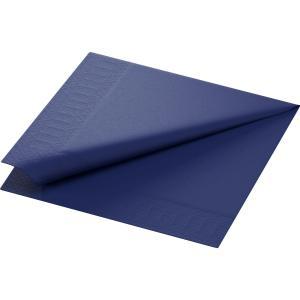 【在庫限り】 カラーナプキン 3PLY 4面折 ダークブルー 40×40cm 125枚入|duni