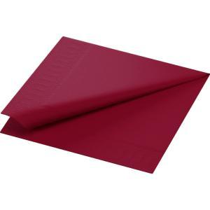 カラーナプキン 2PLY 4面折 ボルドー 33×33cm 125枚入|duni