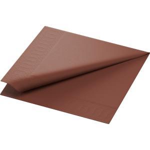 カラーナプキン 2PLY 4面折 チェストナット 24×24cm 300枚入|duni