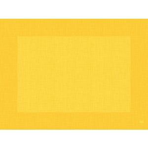 デュニセル ペーパーランチョンマット カラー(リネア イエロー) 30×40cm 100枚入|duni