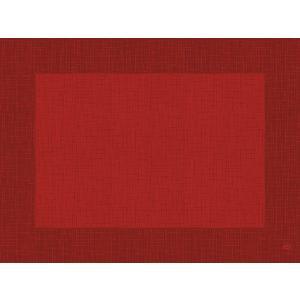 デュニセル ペーパーランチョンマット カラー(リネア レッド) 30×40cm 100枚入|duni