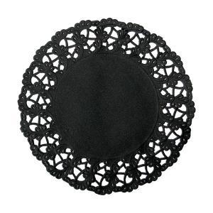 【在庫限り】 レースペーパー ラウンド (ブラック) 250枚入 12cm|duni