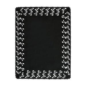 【在庫限り】 レースペーパー 長方形 (ブラック) 250枚入 30×40cm|duni