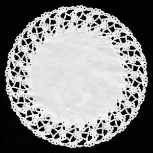 【在庫限り】 レースペーパー ラウンド(ホワイト) 250枚入り 21cm|duni