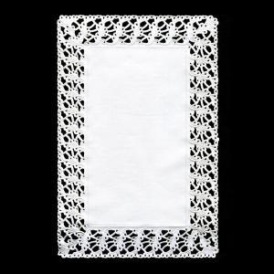 【在庫限り】 レースペーパー 長方形 (ホワイト) 250枚入 20x30cm|duni
