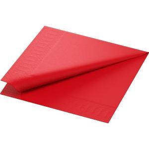 在庫限り カラーナプキン 3PLY 4面折 レッド 33×33cm 20枚入|duni