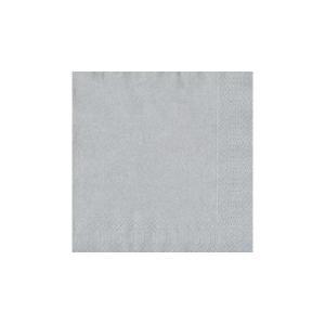 【在庫限り】 カラーナプキン 3PLY 4面折 シルバー 33×33cm 20枚入|duni