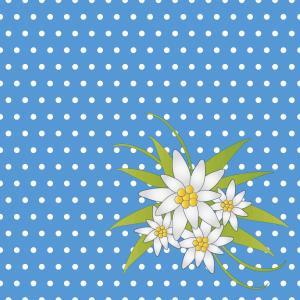 デザインナプキン 3PLY 4面折 (エーデルワイスブルー) 33x33cm 20枚入り|duni