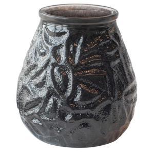 在庫限り グラスキャンドル ベネチア ブラック 70時間燃焼タイプ 10 x 10.4cm  1個入り アウトドア|duni