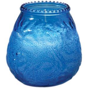 【在庫限り】 グラスキャンドル ベネチア ブルー 70時間燃焼タイプ 10x10.4cm  1個入り|duni