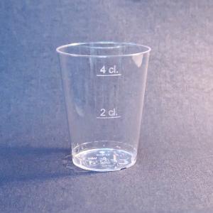 プラスチック製ショットグラス 透明 高さ5.3cm 49cc 25個入|duni