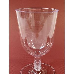 プラスチック製組立式ワイングラス (透明) 高さ11x幅6.5cm 175cc 12個入|duni|03