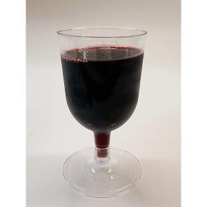 プラスチック製組立式ワイングラス (透明) 高さ11x幅6.5cm 175cc 12個入|duni|05