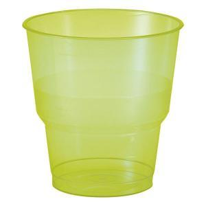 【在庫限り】 プラスチックカップ BBQグリーン 高さ8x幅7.8cm 250cc 0.2Lの目盛付き 10個入|duni