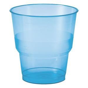 【在庫限り】 プラスチックカップ BBQブルー 高さ8x幅7.8cm 250cc 0.2Lの目盛付き 10個入|duni