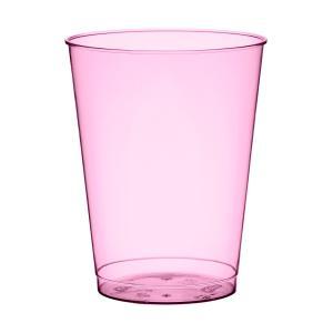 プラスチック製タンブラーグラス ホットピンク 高さ9cm 口径7cm 225cc 10個入り|duni