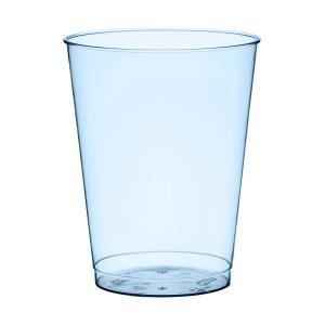 プラスチック製タンブラーグラス ブルー 高さ9cm 口径7cm 225cc 10個入り|duni