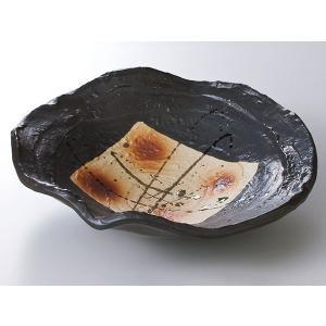 和食器 向こう付け/ 黒釉錆吹6.0平鉢 /業務用 懐石料理 会席 向付|duralex