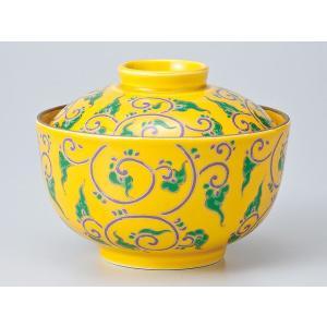 和食器 蓋物/ 黄釉色絵唐草煮物碗 /陶器 煮物 料亭 割烹 碗 業務用|duralex