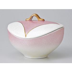 和食器 蓋物/ ピンク吹七宝紋蓋物 /陶器 煮物 料亭 割烹 碗 業務用|duralex