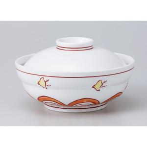 和食器 蓋物/ 赤絵波千鳥蓋向 /陶器 煮物 料亭 割烹 碗 業務用|duralex