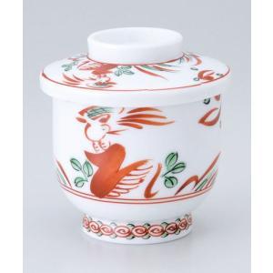茶碗蒸し 陶器/ 赤絵花鳥むし碗 /蒸し碗 ちゃわんむし碗 業務用|duralex