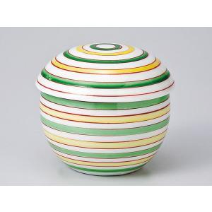 茶碗蒸し 陶器/ 新丸形むし碗(中)三色駒筋(119-41B) /蒸し碗 ちゃわんむし碗 業務用|duralex