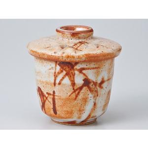 茶碗蒸し 陶器/ 赤志野竹むし碗 /蒸し碗 ちゃわんむし碗 業務用|duralex