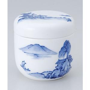 茶碗蒸し 陶器/ 山水夏目型むし碗 /蒸し碗 ちゃわんむし碗 業務用|duralex