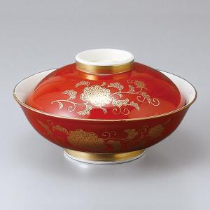 和食器 蓋物/ 赤巻唐草平蓋向 /陶器 煮物 料亭 割烹 碗 業務用|duralex