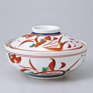 和食器 蓋物/ 赤絵万暦蓋向 /陶器 煮物 料亭 割烹 碗 業務用|duralex