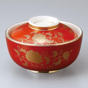 和食器 蓋物/ 赤巻唐草円菓子碗 /陶器 煮物 料亭 割烹 碗 業務用 duralex
