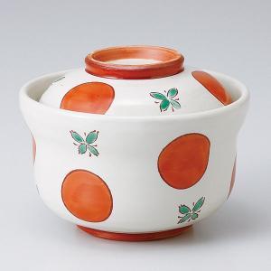 和食器 蓋物/ 赤絵丸紋円菓子碗 /陶器 煮物 料亭 割烹 碗 業務用 duralex