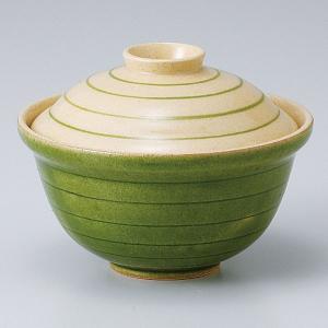 和食器 蓋物/ グリーン渦福碗 /陶器 煮物 料亭 割烹 碗 業務用 duralex