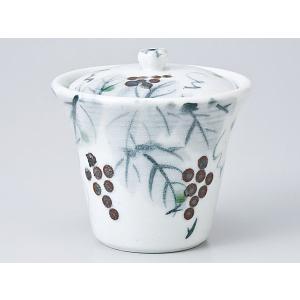 茶碗蒸し 陶器/ 白志野ぶどう蓋物 /蒸し碗 ちゃわんむし碗 業務用|duralex