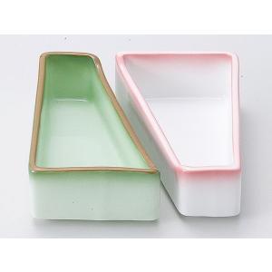 陶器 松花堂 小鉢 小皿/ 緑彩台形鉢 /弁当 小鉢 豆皿 幕の内 業務用|duralex