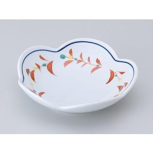 陶器 松花堂 小鉢 小皿/ 赤絵花つなぎ梅型皿 /弁当 小鉢 豆皿 幕の内 業務用|duralex